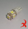 005-1163 T10 Lampara Leds 5 SMD